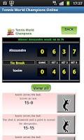 Screenshot of Tennis World Champions