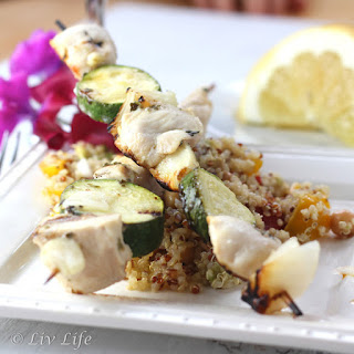 Greek Chicken and Zucchini Skewers