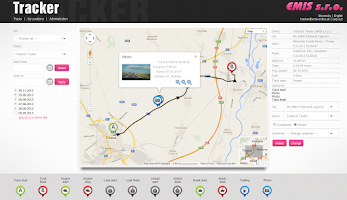 Screenshot of Tracker