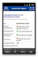 Screenshot of AutoCheck® Mobile for Consumer