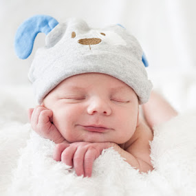 Baby Bliss by Melissa Papaj - Babies & Children Babies ( child, infant, sleepy, baby, sleeping, smile, sleep, boy, newborn, hat,  )