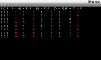 Screenshot of Truth Tables