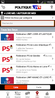 Screenshot of Politique Live