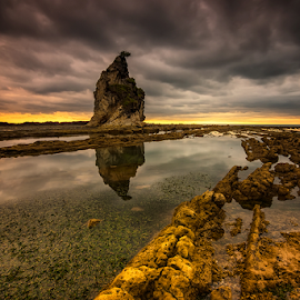 Before Storms by Ade Noverzan - Landscapes Beaches ( clouds, sunset, beach, rocks )