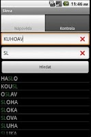 Screenshot of Slova