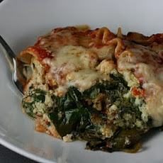 Slow Cooker Pesto Spinach Lasagna