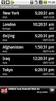 Screenshot of World Clock & Widget