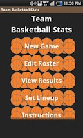 Screenshot of Team Basketball Stats