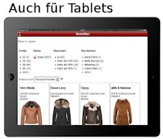 Screenshot of Mode shoppen