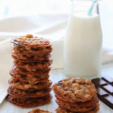 Dark Chocolate Oatmeal Lace Cookies