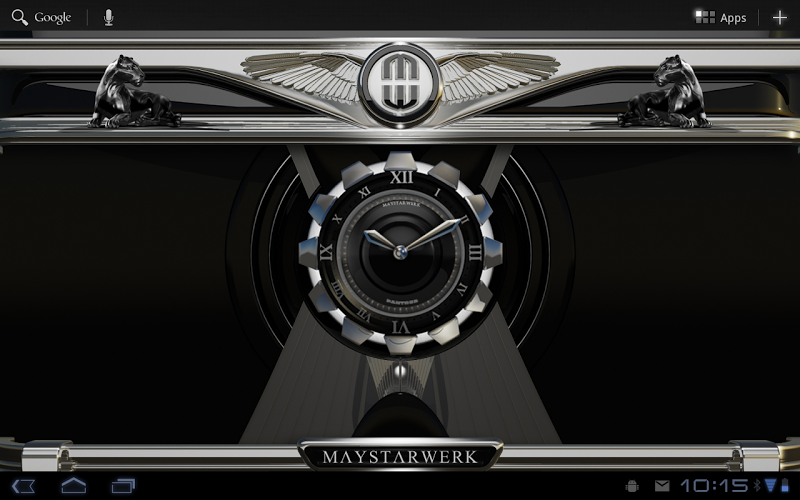 Clock Widget Black Panther Screenshot 6