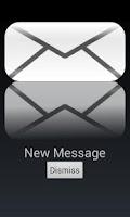 Screenshot of Message Notification