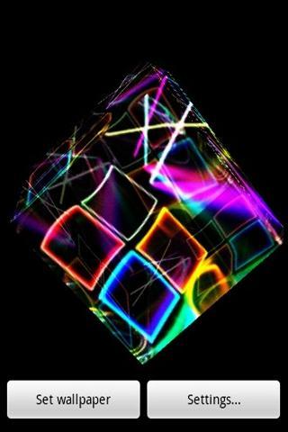 3D 아름다운 네온 빛