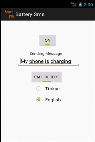 Battery SMS