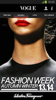 Screenshot of Fashion in Vogue