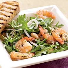 Roasted Rosemary Shrimp with Arugula and White Bean Salad