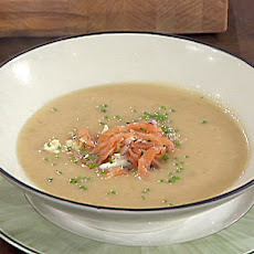 Potato Soup with Smoked Salmon Relish