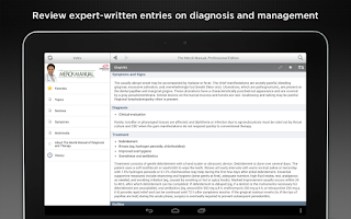Screenshot of Merck Manual