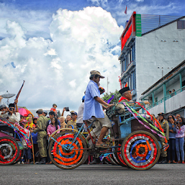 Becak by Dany Fachry - Transportation Bicycles ( humanity, society, crowd, people )