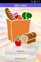 Screenshot of Grocery Organizer