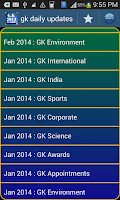 Screenshot of GK 2014-15 & Current Affairs