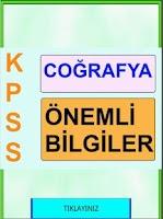 Screenshot of KPSS Cografya Kısa Bilgiler
