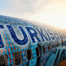 All aboard! by Carlos André Viana - Transportation Airplanes ( colorful, airplane, sunrise, turkey, turkish airlines )