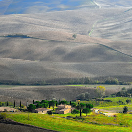Val d'Orcia,Pienza (Si) Italia by Angelo Durante - Landscapes Prairies, Meadows & Fields