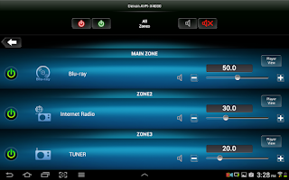 Screenshot of Denon Remote App