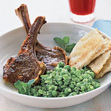 Spiced Lamb Chops and Smashed Peas