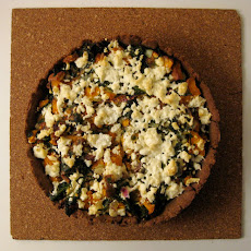 Swiss Chard, Sweet Potato, and Ricotta Salata Tart