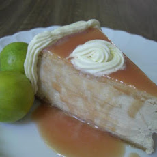 Guava Cheesecake With Cashew-Ginger Crust