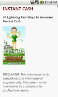 Screenshot of Instant Cash