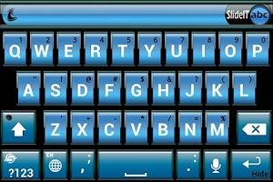Screenshot of SlideIT Blue Metal Skin