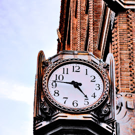 Time's Up by Christine May - City,  Street & Park  Neighborhoods ( clock, object, clocks, antique, photography, street photography )