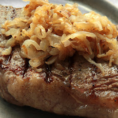 New York Strip Steak with Caramelized Shallots Recipe