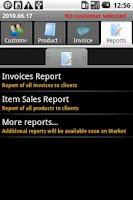 Screenshot of PGM-Invoice Demo