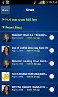 Screenshot of Mobile Membership