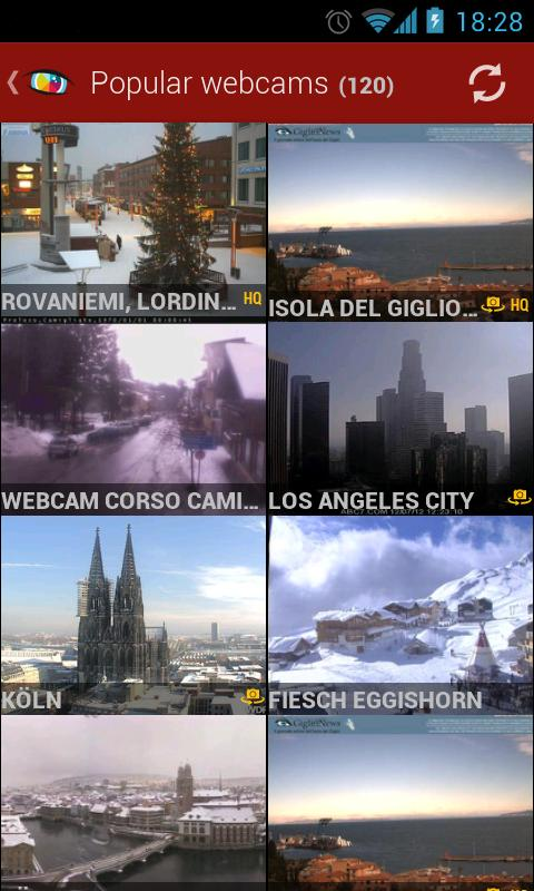 Worldscope Webcams Screenshot 1