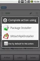 Screenshot of tAttachApkInstaller