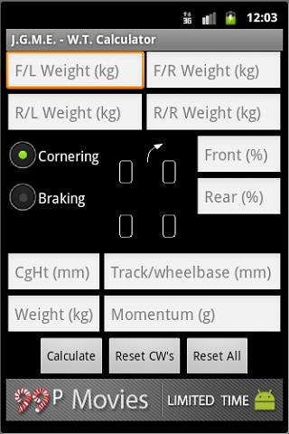 Vehicle Weight Transfer Calc