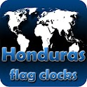 Honduras flag clocks