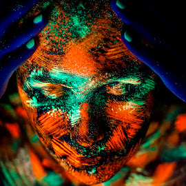 Black light and colors by Sima Iulian - People Body Art/Tattoos ( portret, body art, ultraviolet, women, black light )
