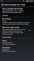 Screenshot of DSLR Controller Wi-Fi Stick