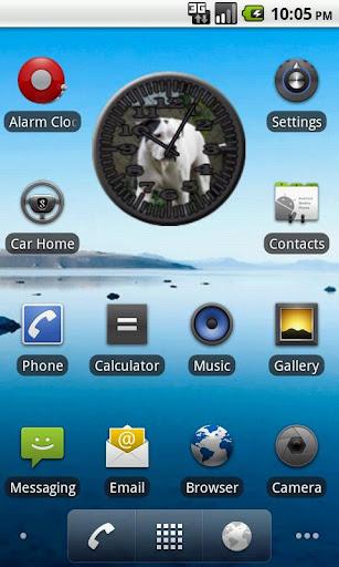 Dog 8 Bulldog Analog Clock
