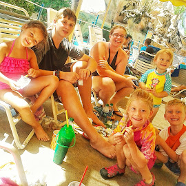 the gang by Heather McDougall - Babies & Children Children Candids ( water park, having fun, goofy, kids, swimming,  )
