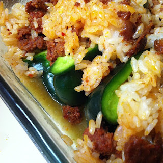 Chorizo Rice Poblano Peppers