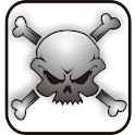 Skull Bones doo-dad bw icon