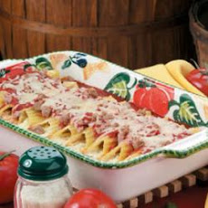 Manicotti with Spicy Sausage