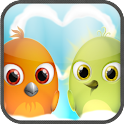 Crazy Love Birds Jumping Game icon